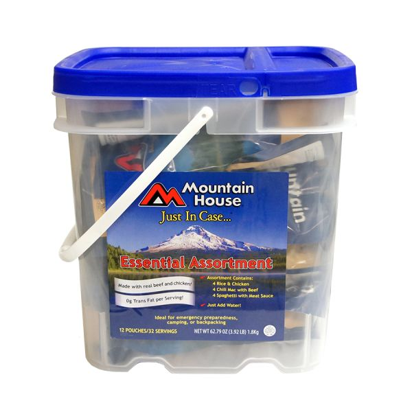 2 PACK - Mountain House Just In Case - Essential Assortment Bucket