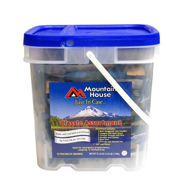 2 PACK - Mountain House Just In Case - Classic Assortment Bucket
