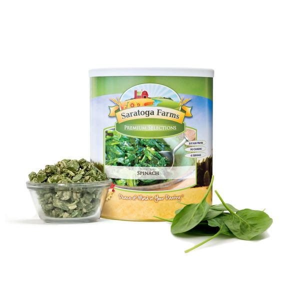 2 PACK - Saratoga Farms Freeze Dried Spinach