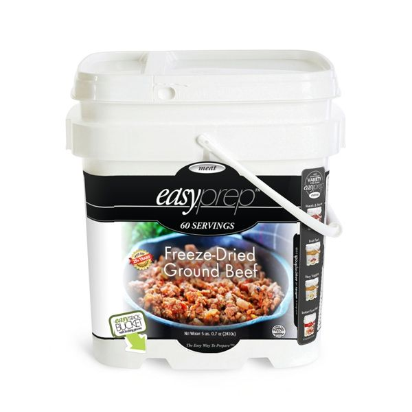 EasyPrep Freeze-Dried Ground Beef Bucket