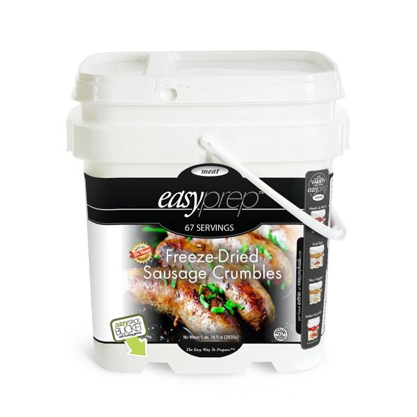 1 PACK - EasyPrep Freeze-Dried Sausage Crumbles Bucket