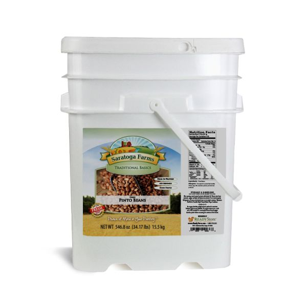 4 PACK - Saratoga Farms Pinto Beans ValueBUCKET